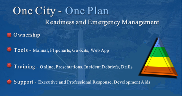 One City - One Plan Be Prepared: Ownership, Tools, Training and Support services.