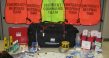 Various emergency management team supplies and materials