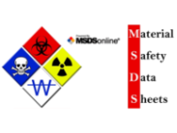 MSDS logo and text Material Safety Data Sheets