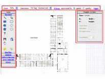 Diagram of school building plan from ESA application