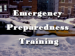 text Emergency Preparedness Training with snow-covered cars in background